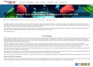 Largest Dive Organization In Singapore Joins with SSI